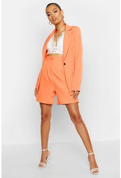 Womens Coral Tailored City Short