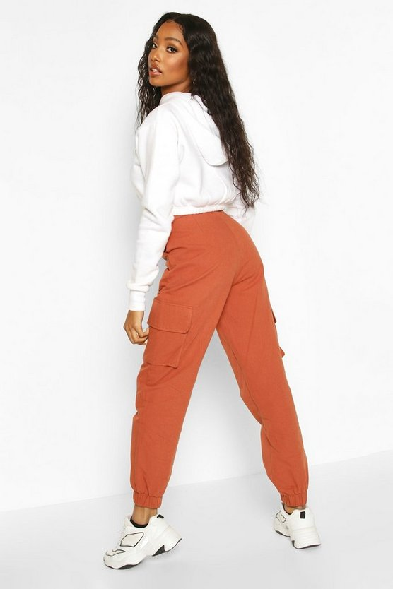 Self Belted Pocket Side Cargo Trousers