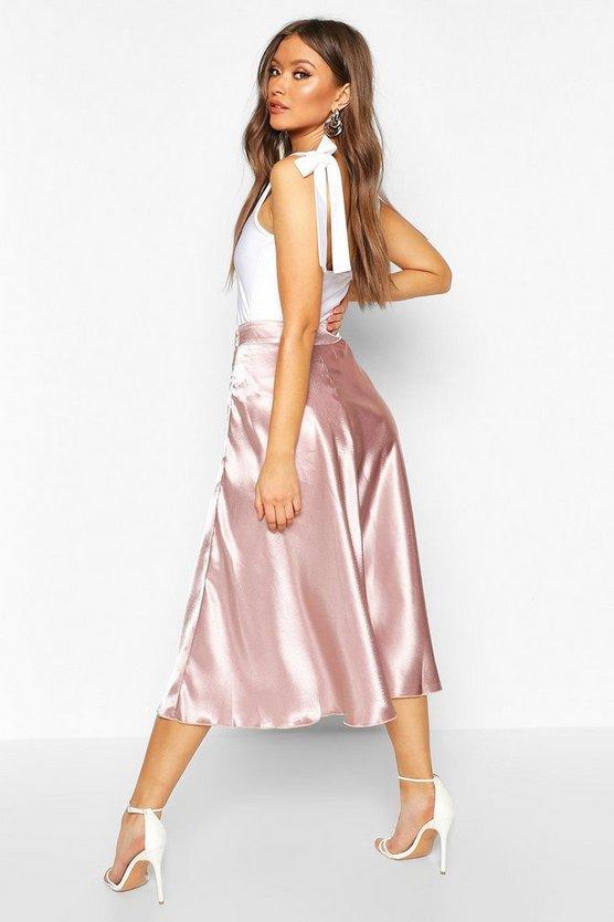 Satin Full Midi Skirt