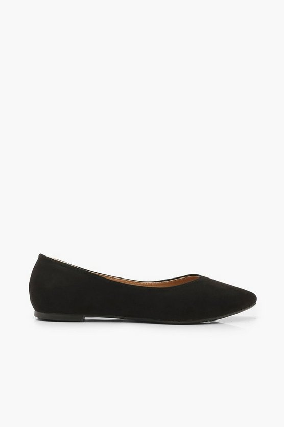 Wide Fit Pointed Flat Ballets