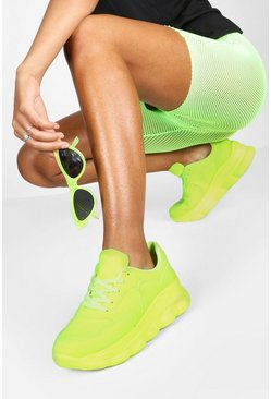 Dam Yellow Bubble Sole Neon Trainers