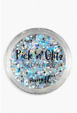 Pot de paillettes biodégradables Pick & Glitz Barry M - Extra, Argent, Femme