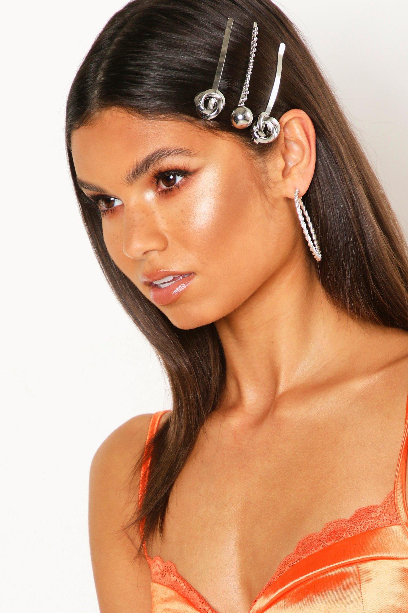 Купить со скидкой Мульти-комплект заколок для волос в виде узелковт и шаров