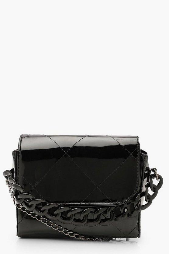 Metallic Chunky Chain Clutch Bag