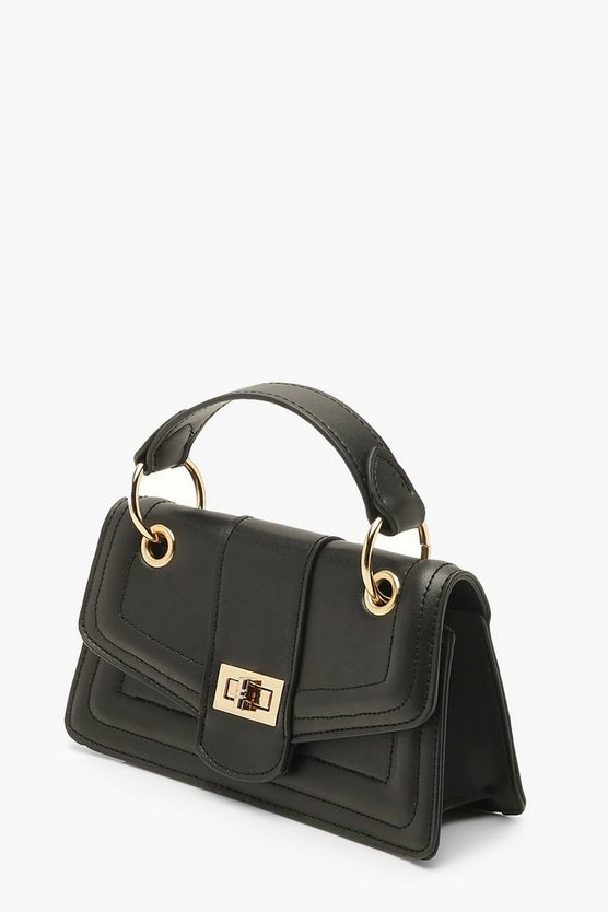 Twist Lock Structured Mini Bag