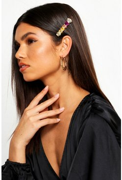 Womens Gold Open Hexagon Hoop Earrings