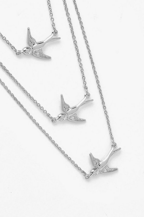 Simple Three Swallows Necklace