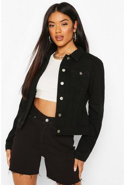 Black Crop Denim Jacket