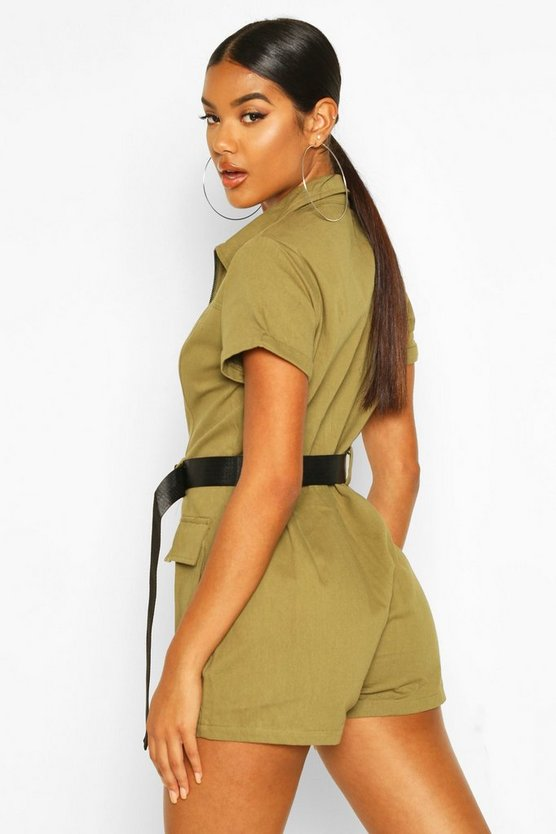 Utility Belted Playsuit