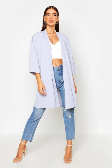 Womens Dove Flared Sleeve Duster