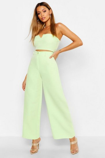 Womens Lime Tailored Straight Leg Trouser