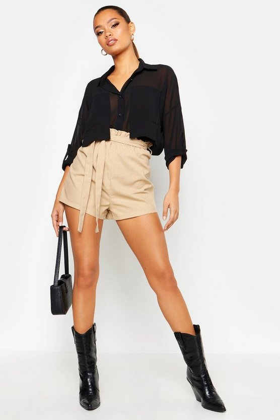 Oversized Pocket Detail Chiffon Shirt by Boohoo