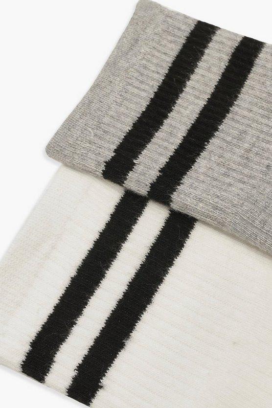 Sports Stripe 2 Pack Sock