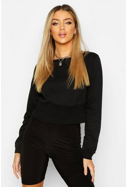 Dam Black Fitted Waist Sweater