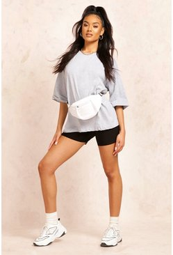 Grey marl Basic Turn Cuff Boxy Sweat