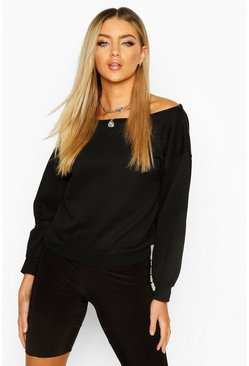 Dam Black Slash Neck Sweat