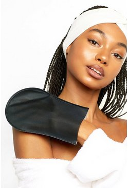 Black Boohoo Tanning & Exfoliating Mitt Set
