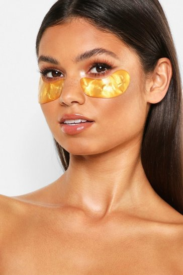 Womens Gold Boohoo Collagen Dark Circle Gel Eye Patches