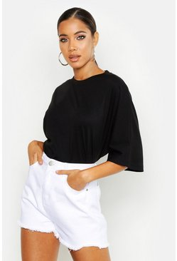 Black Batwing Oversized T-Shirt