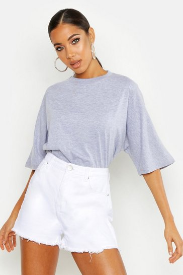 Grey marl Batwing Oversized T-Shirt