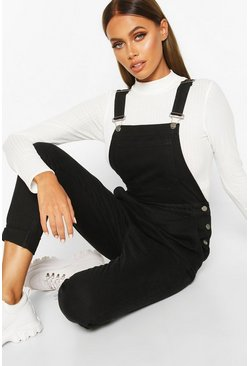 Black Slim Fit Denim Overall