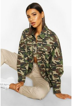 Oversized Camo Denim Shirt