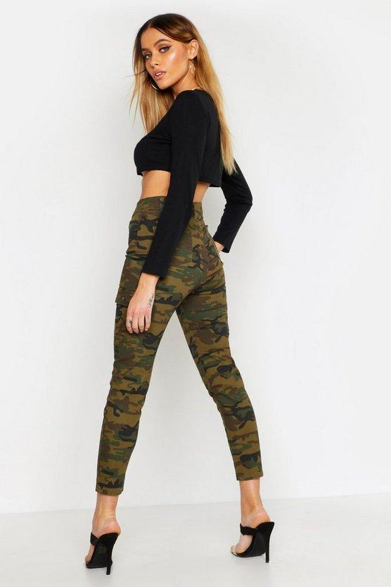 Camo Pocket Detail Skinny Jean