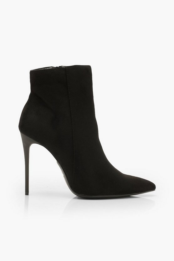 Stiletto Heel Pointed Toe Ankle Boots