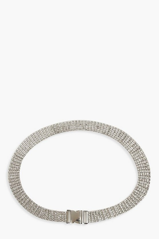 Diamante Detail Buckle Belt