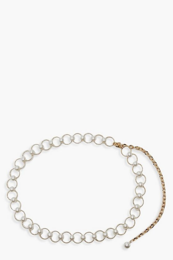 Pearl & Ring Chain Belt