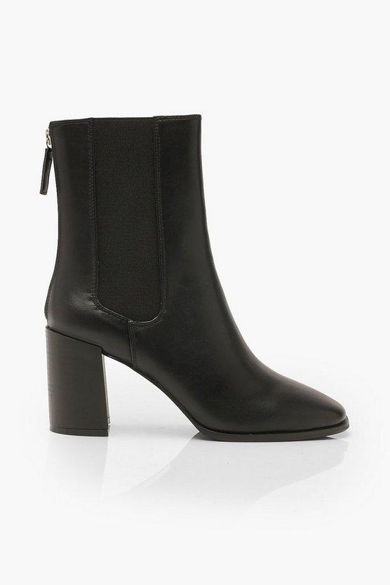 Elastic Panel Sock Boots