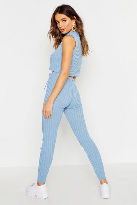 Knitted High Waisted Joggers