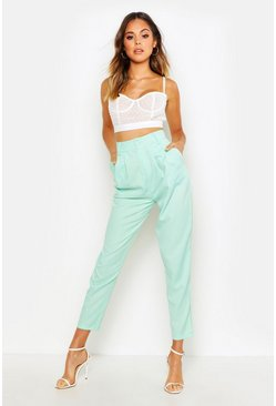 Sage Relaxed Pleat Front 80's Ankle Grazer