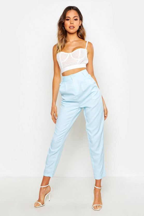 Relaxed Pleat Front 80's Ankle Grazer by Boohoo