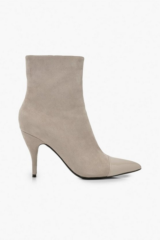 Toe Cap Pointed Shoe Boots