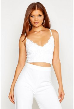 White Lace Strappy Bralet