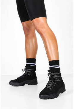Dam Black Chunky Hiker Trainers