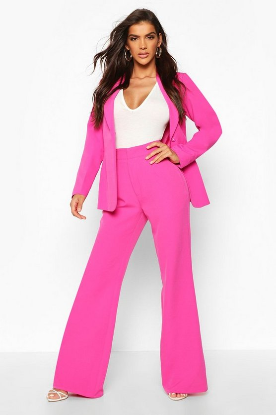 Tailored Wide Leg Trouser by Boohoo