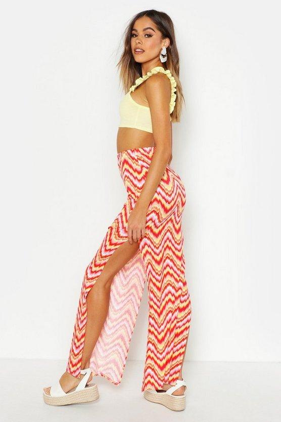 Aztec Side Split Maxi Skirt