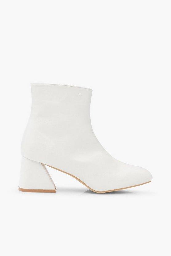 Low Flare Heel Shoe Boots