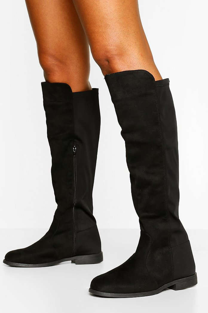 lower price with special sales first look Wide Fit Wider Calf Knee High Boots   boohoo