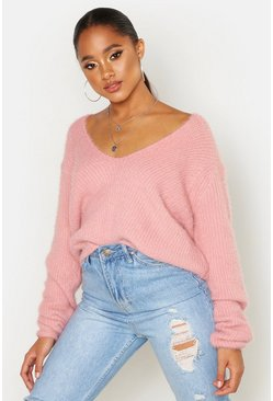 Blush Soft Touch V Neck Sweater