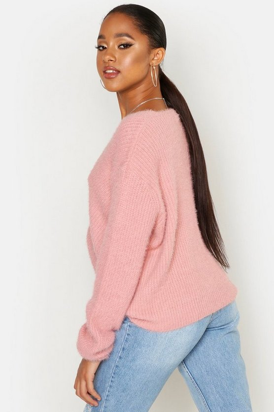 Soft Touch V Neck Jumper