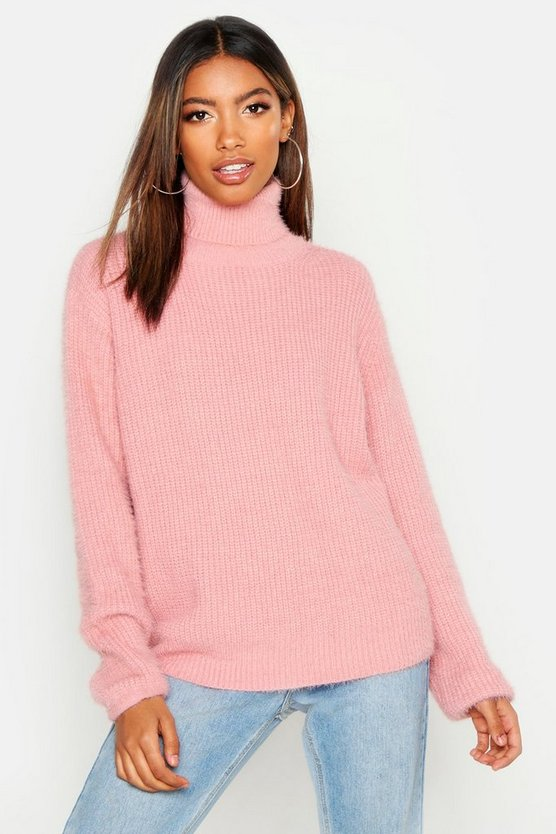 Soft Knit Roll Neck Jumper