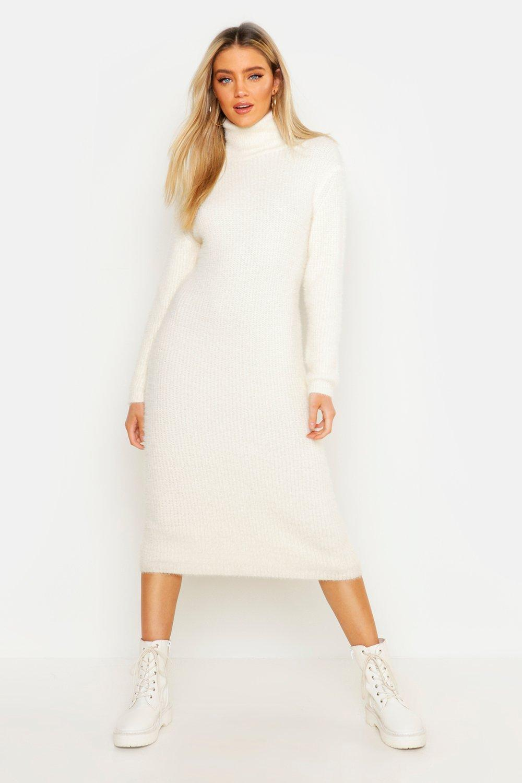 provide plenty of quality design sells Soft Knit Roll Neck Midi Jumper Dress | Boohoo
