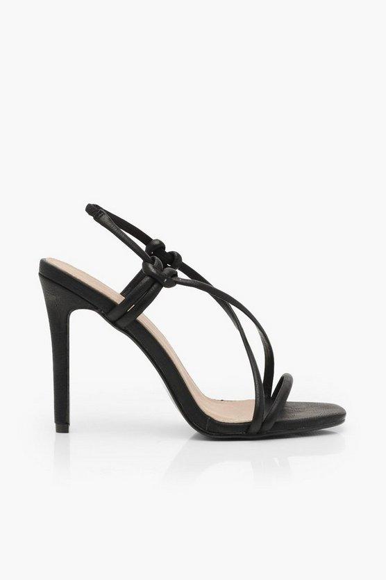Asymmetric Strappy Heel Sandals