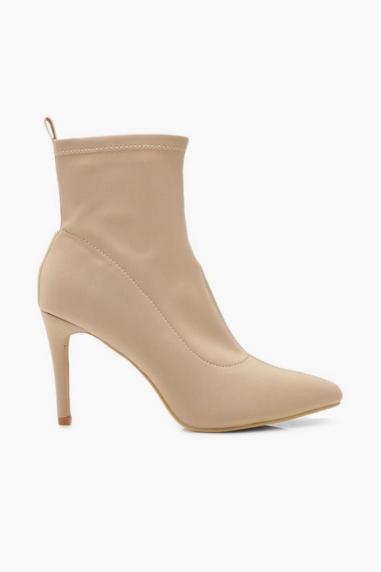 Pointed Stiletto Sock Boots
