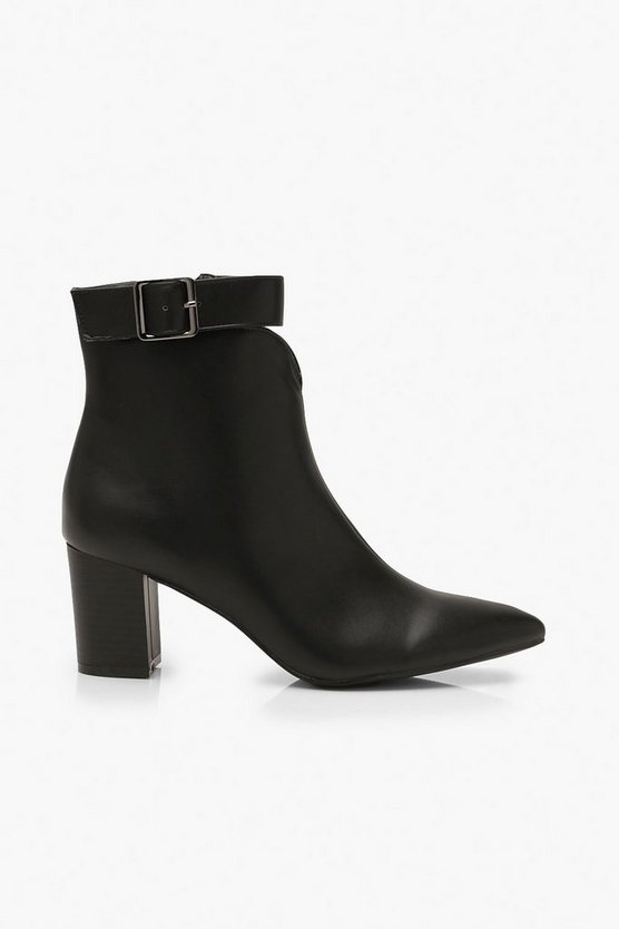 Belt Detail Pointed Shoe Boots