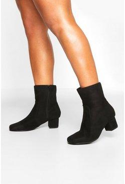 5604e256bce Wide Fit Low Block Heel Shoe Boots