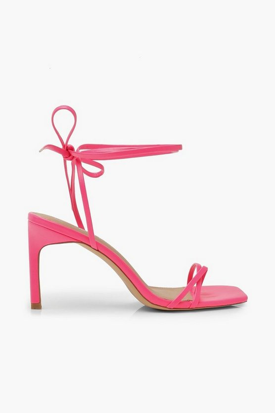 Wrap Strappy Heeled Sandals